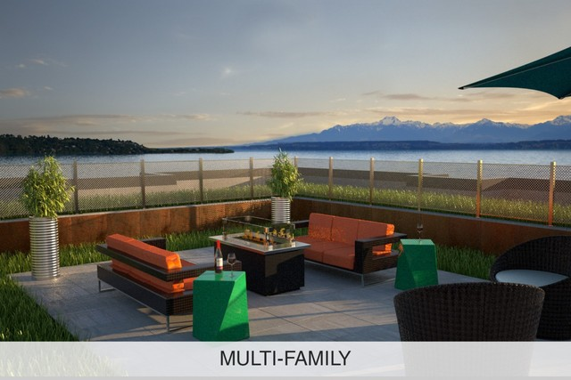 Outdoor multi family roof deck